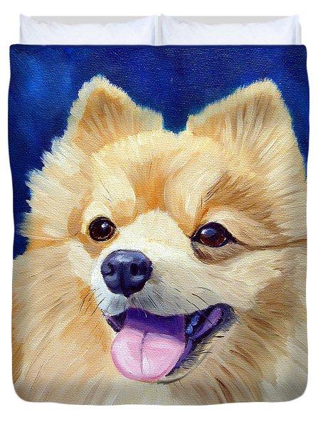 Pomeranian Duvet Cover by Lyn Cook