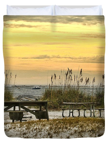 Ponce Inlet Park Duvet Cover