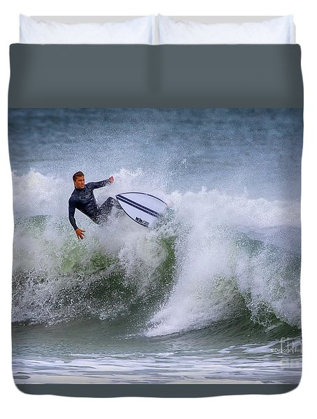Duvet Cover featuring the photograph Ponce Surf 2017 by Deborah Benoit