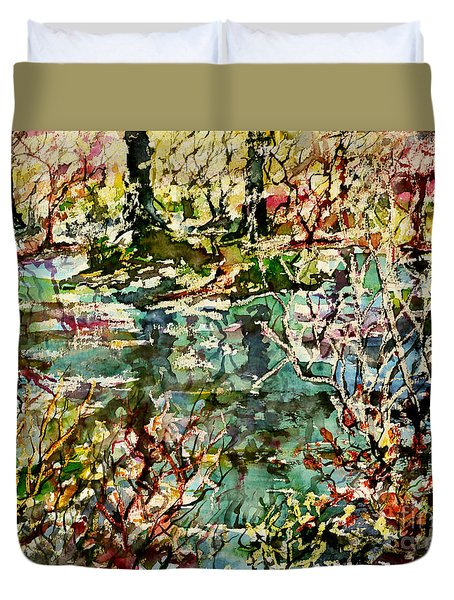 Pond And Beyond Duvet Cover