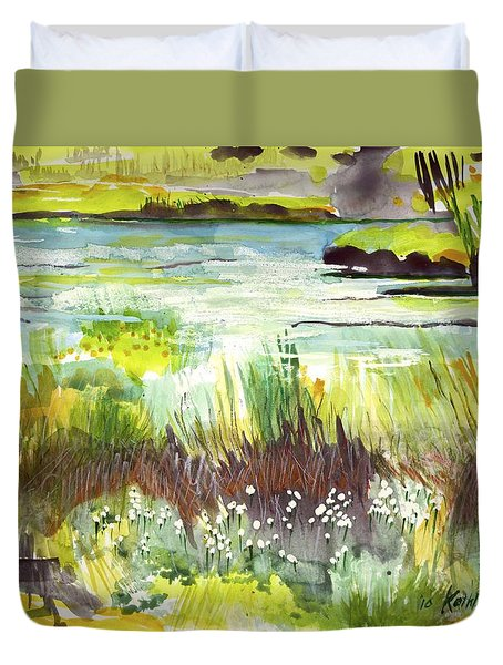 Pond And Plants Duvet Cover