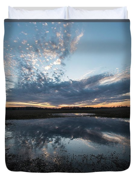 Pond And Sky Reflection3a Duvet Cover