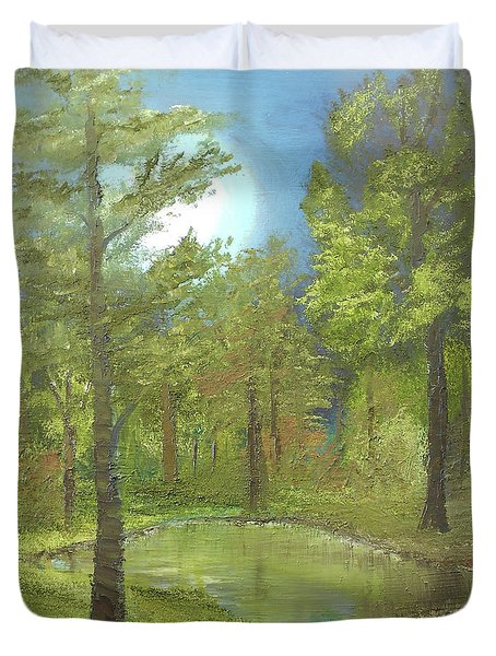 Pond Duvet Cover by Angela Stout