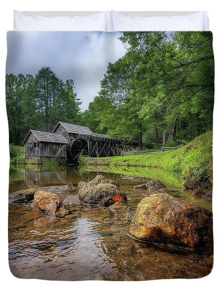Pond At Mabry Mill Duvet Cover