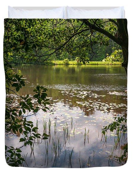 Pond In Spring Duvet Cover