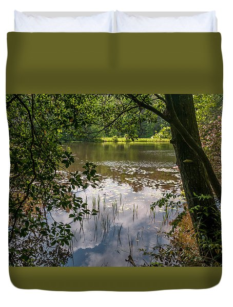 Pond In Spring Duvet Cover