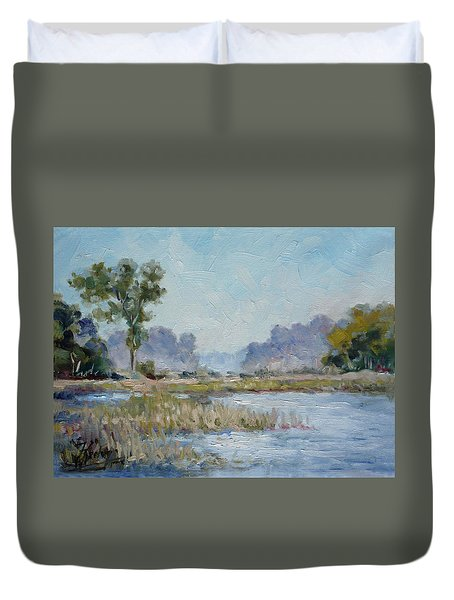 Pond In The Woods 1 Duvet Cover