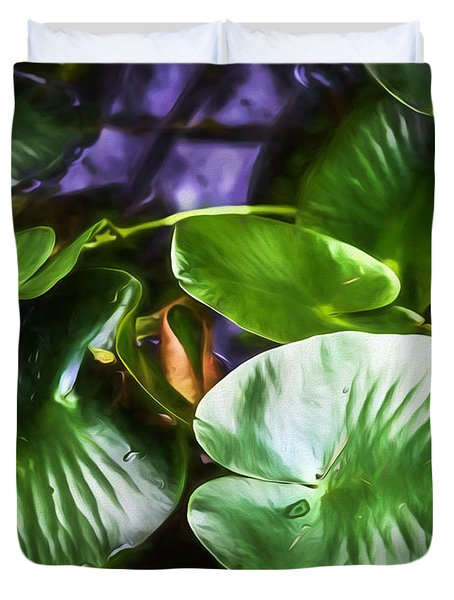 Pond Lily Pads Duvet Cover