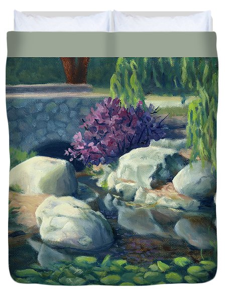 Pond Of Reflection Duvet Cover