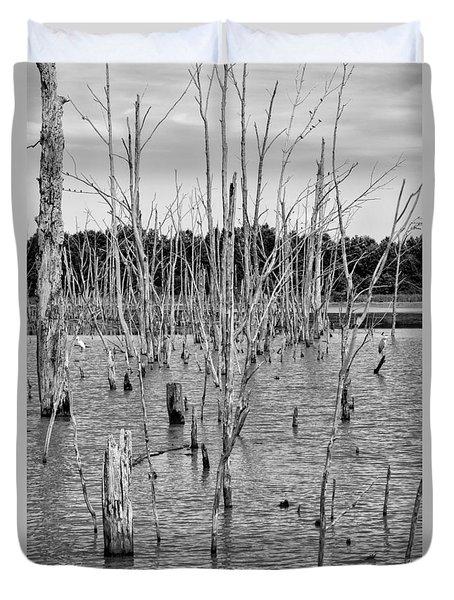 Pond Of Trees Duvet Cover