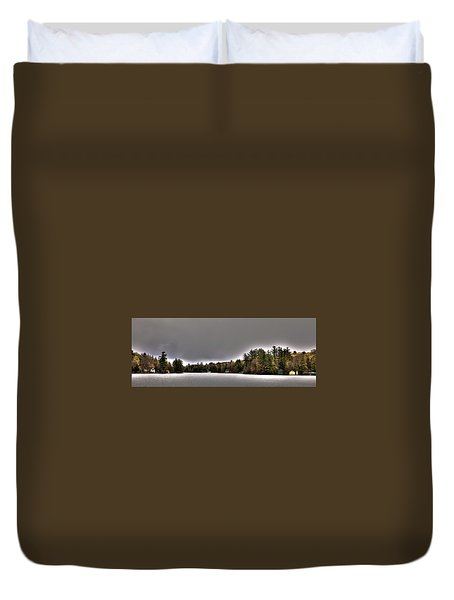 Pond Panorama Duvet Cover by David Patterson