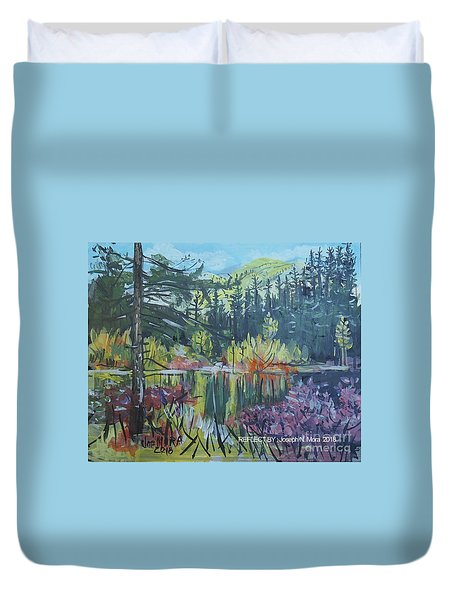 Pond Reflections Duvet Cover