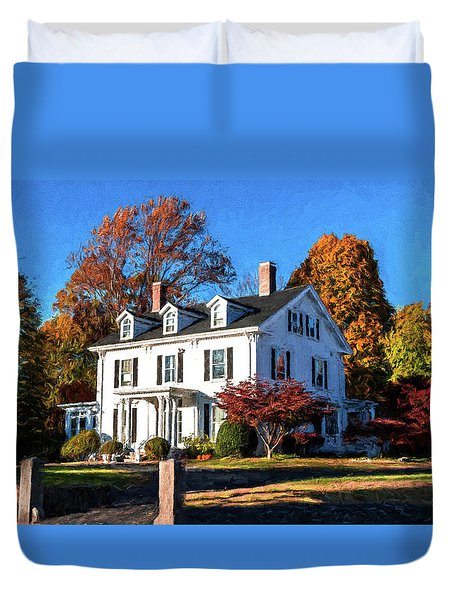 Pond Street Life In Jp Duvet Cover