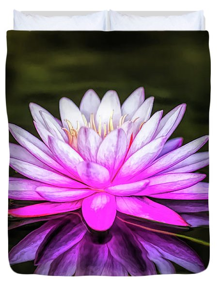Pond Water Lily Duvet Cover