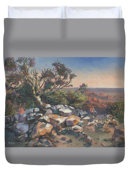 Pondering By The Canyon Duvet Cover
