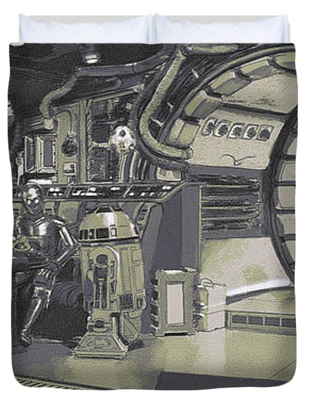 Pondering Chewie's Next Move Duvet Cover