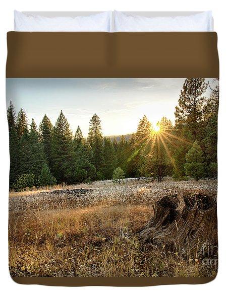 Ponderosa Sunset Duvet Cover