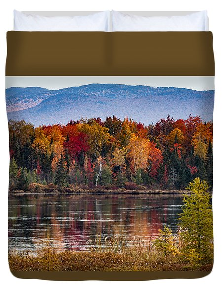 Pondicherry Fall Foliage Reflection Duvet Cover