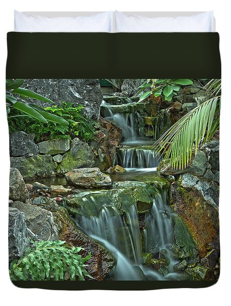 Pond@muttart Duvet Cover