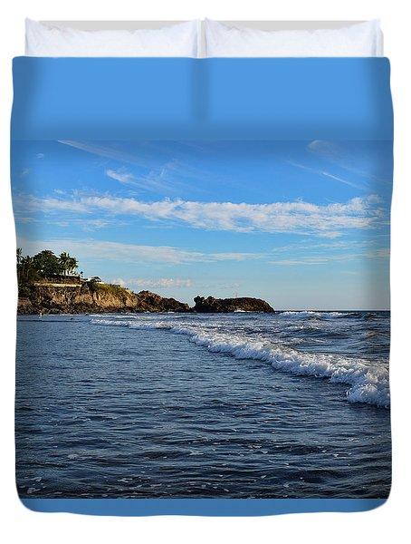 Poneloya Beach Before Sunset Duvet Cover