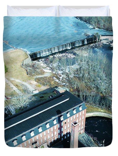 Ponemah Mill And Dam Duvet Cover