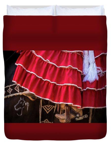 Ponies And Petticoats Duvet Cover