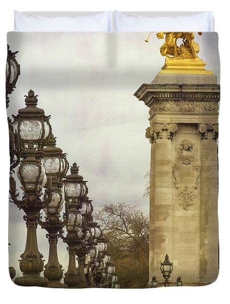 Pont Alexandre IIi Paris Duvet Cover