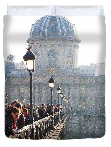 Pont D'art Duvet Cover