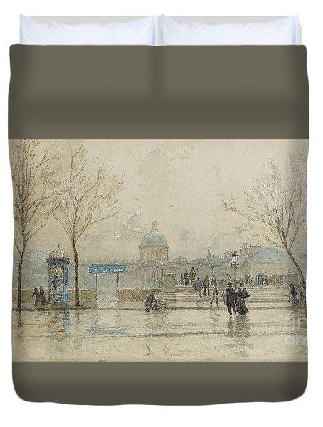 Pont Des Arts, Paris, 6th March 1897 Duvet Cover