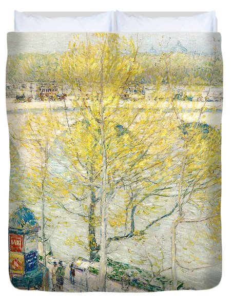 Pont Royal Paris Duvet Cover by Childe Hassam