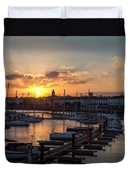 Ponta Delgada Sunset Duvet Cover