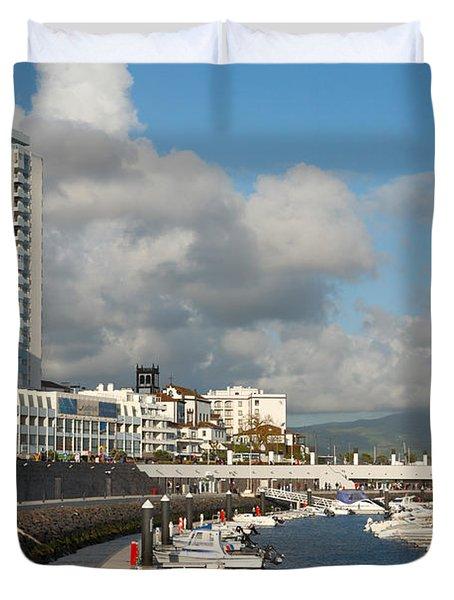 Ponta Delgada Waterfront Duvet Cover by Gaspar Avila