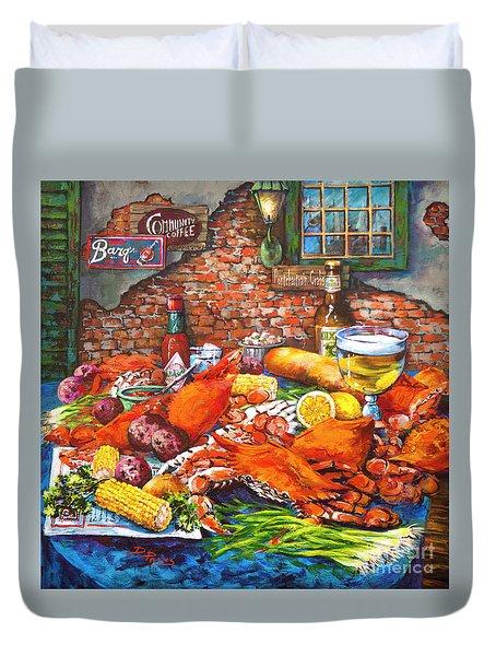 Pontchartrain Crabs Duvet Cover