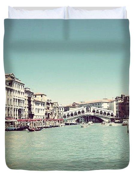 Ponte Di Rialto Duvet Cover
