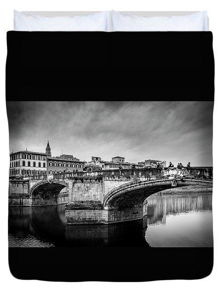 Ponte Santa Trinita Duvet Cover by Sonny Marcyan