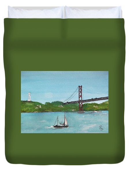 Ponte Vinte E Cinco De Abril Duvet Cover