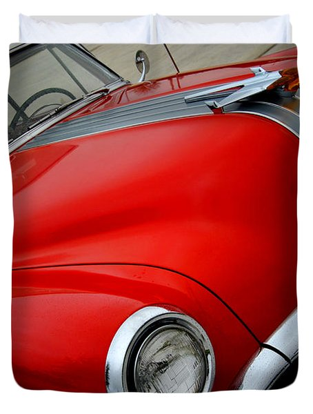 Pontiac Chieftain 1954 Front Duvet Cover
