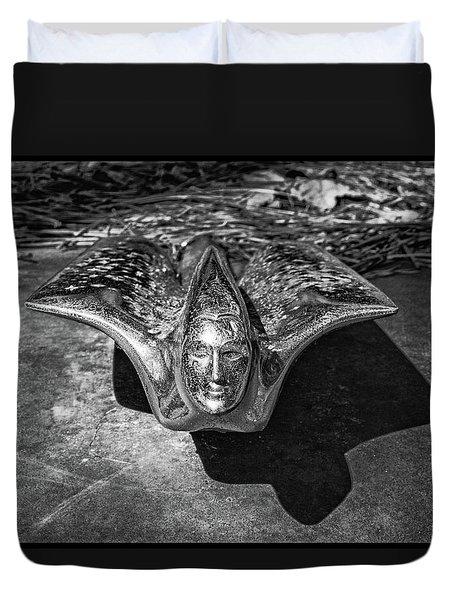 Pontiac Hood Ornament Duvet Cover