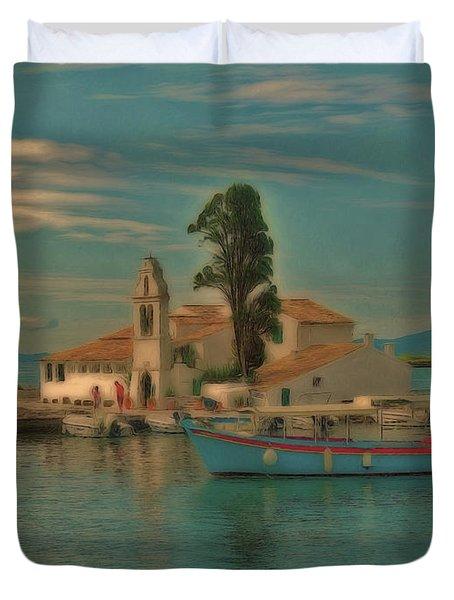 Pontikonisi Corfu Duvet Cover