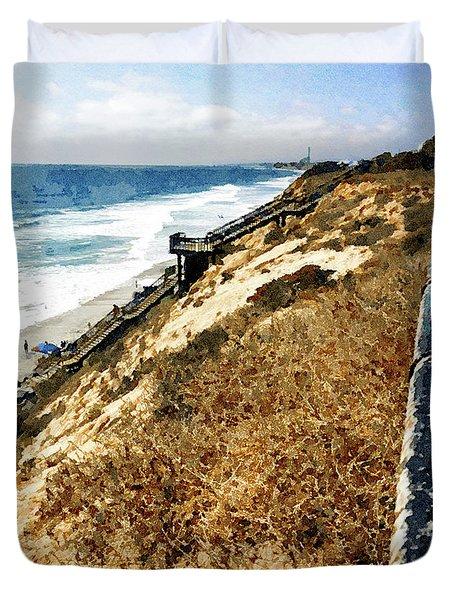 Ponto Beach, Carlsbad Duvet Cover