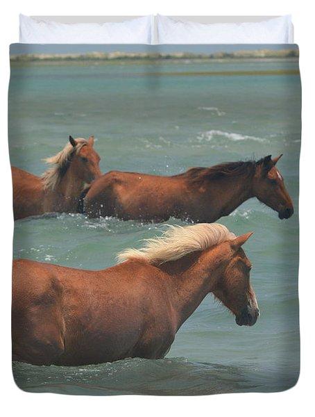 Pony Crossing.... Duvet Cover