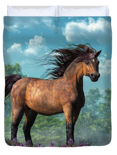 Pony Duvet Cover by Daniel Eskridge