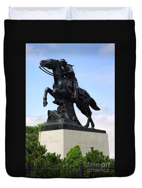 Pony Express Rider Duvet Cover