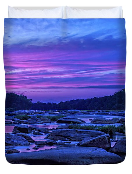 Pony Pasture Sunset Duvet Cover
