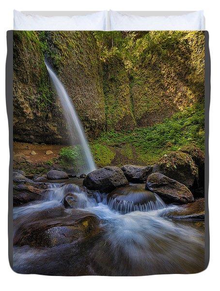 Ponytail Falls Duvet Cover by David Gn