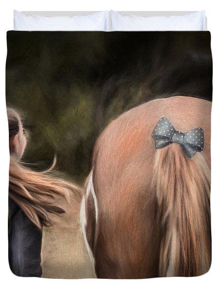 Ponytails Forever Duvet Cover