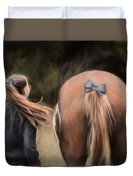 Ponytails Forever Duvet Cover by Robin-Lee Vieira