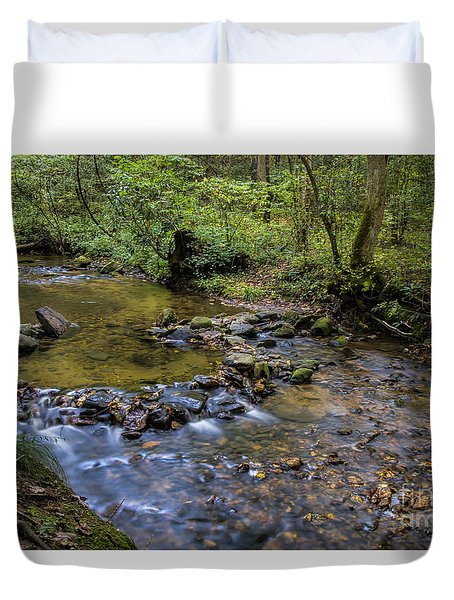 Duvet Cover featuring the photograph Pool At Cooper Creek by Barbara Bowen