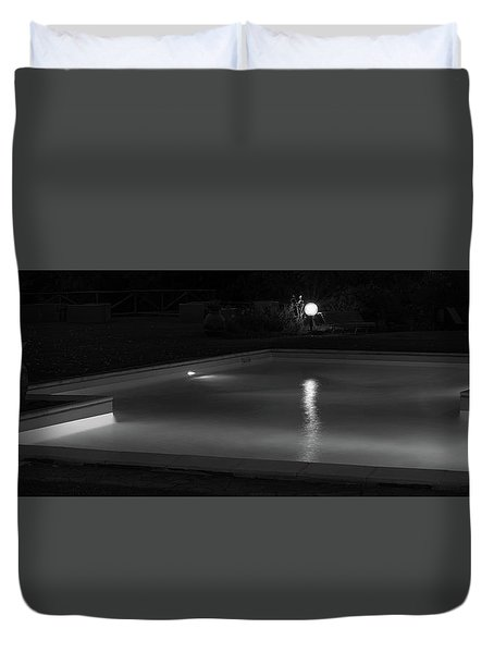 Pool At Night 2 Duvet Cover