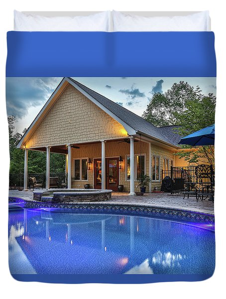 Pool House Duvet Cover